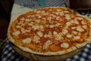 Pizza in Malapascua, Philippines.