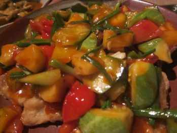 Stir fried vegetables in Chiang Mai, Thailand.