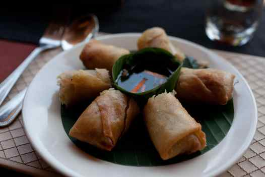 Spring Rolls in Chiang Mai, Thailand.