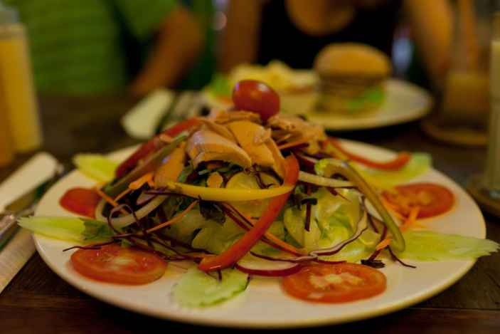 Salad in Chiang Mai, Thailand.