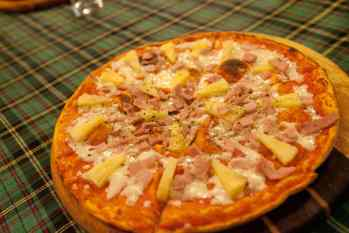 Pizza in Chiang Mai, Thailand.