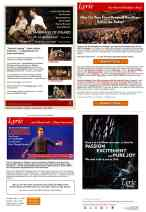 Email design for Lyric Opera of Chicago using TMS and Wordfly.