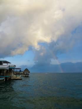 Rainbow in Bocas del Toro, Panama.