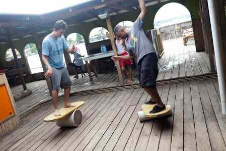 Indo Board at Aqua Lounge in Bocas del Toro, Panama.