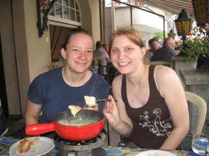 Swiss fondue in Interlaken, Switzerland