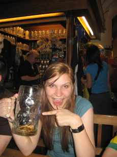 I finished a liter of beer in Munich, Germany