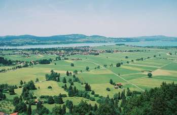 A view from the mountain in Munich, Germany
