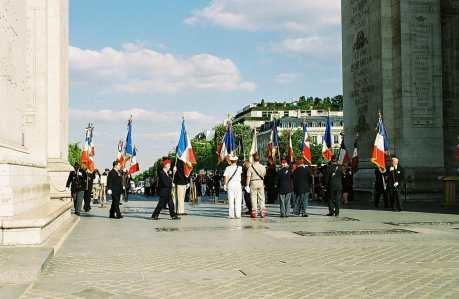 Ceremony at the Arc de Triumph in Paris, France