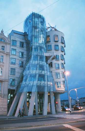 The Fred and Ginger Building – they're dancing - in Prague, Czech Republic