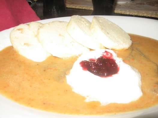 Beef in Cream Sauce in Prague, Czech Republic
