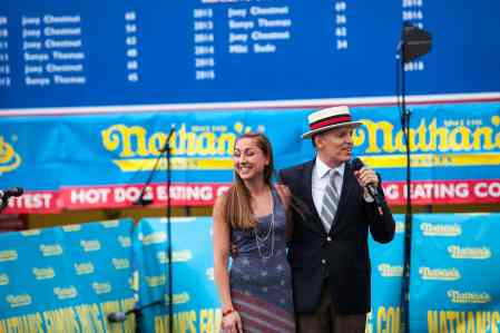Star Spangled Banner at the Nathan's Famous July 4 Hot Dog Eating Contest 2015.