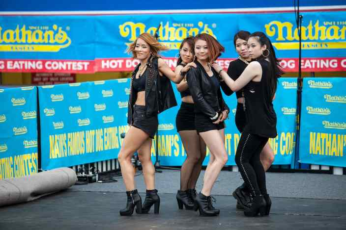 I love dance KPOP group at the Nathan's Famous July 4 Hot Dog Eating Contest 2015