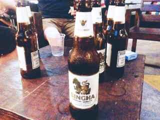 Singha: my Thai beer of choice.