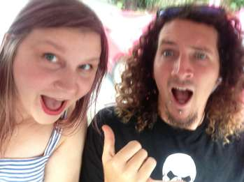Me and Chris in a tuk tuk.