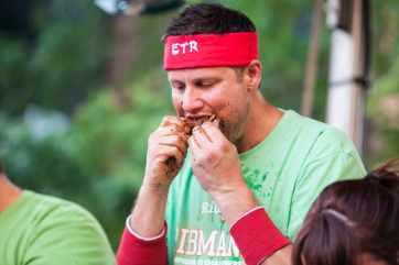 Erik Denmark | Ribmania Ribs Eating Contest at Ribfest Chicago