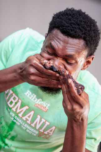Gideon Oji | Ribmania Ribs Eating Contest at Ribfest Chicago