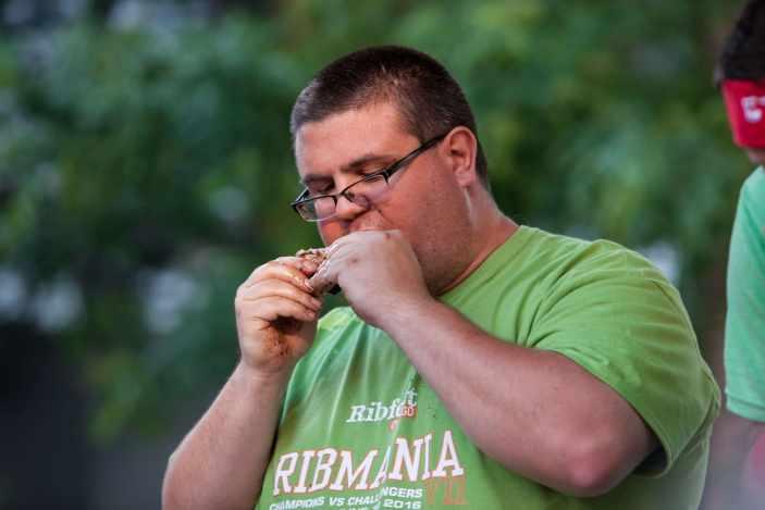 Andrew Kogutkiewicz | Ribmania Ribs Eating Contest at Ribfest Chicago