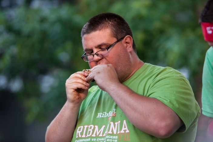 Andrew Kogutkiewicz | Ribmania Ribs Eating Contest at Ribfest Chicago