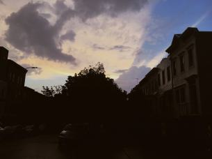 The sky in Park Slope.
