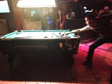 Playing pool in Williamsburg