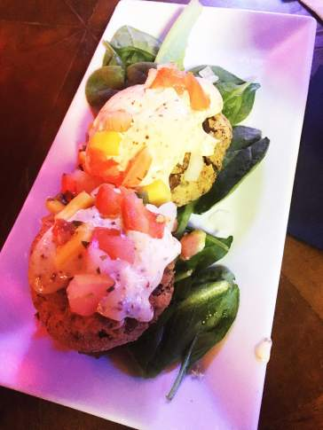Crabcakes on Frenchmen Street in New Orleans.