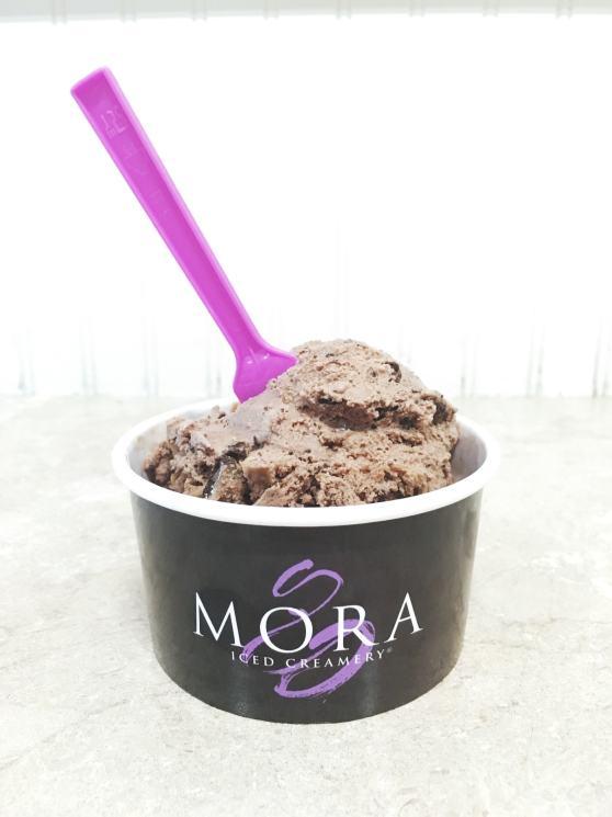 Chocolate Peanut Butter Moreo ice cream from MORA ice cream on Bainbridge Island.