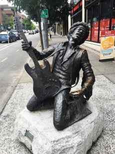 Jimi Hendrix in Capitol Hill, Seattle, Washington.