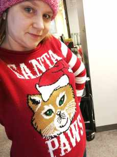 Ugly Christmas sweater day.