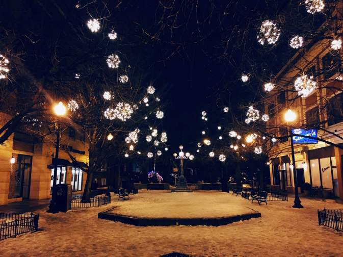 Christmas in Lincoln Square.