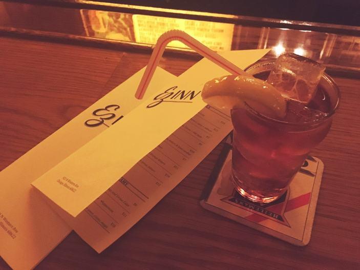 Mezcal Peach Cobbler Fizzy Boozy at EZ Inn in Chicago.