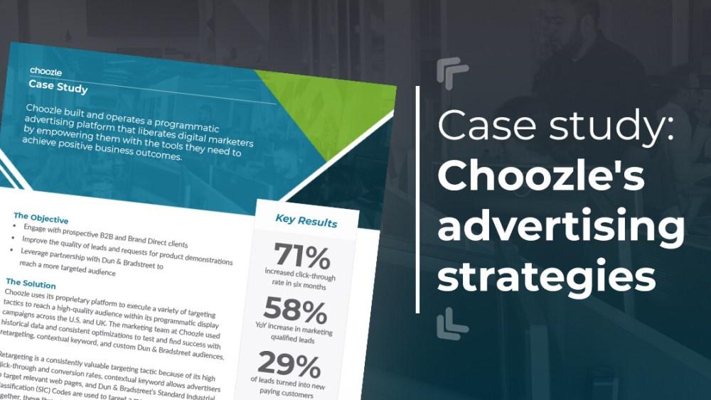 Choozle Case Study Advertising Strategies