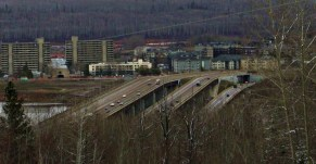 overpass over Clearwater River, Fort McMurray, AB