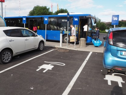 Ikea free car charger & shuttle bus