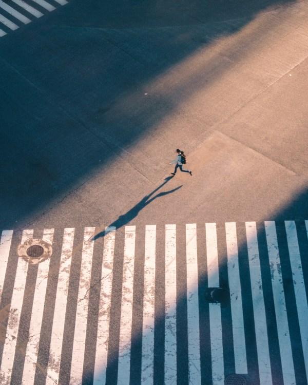 One Man Crossing Shibuya - Tokyo, Japan
