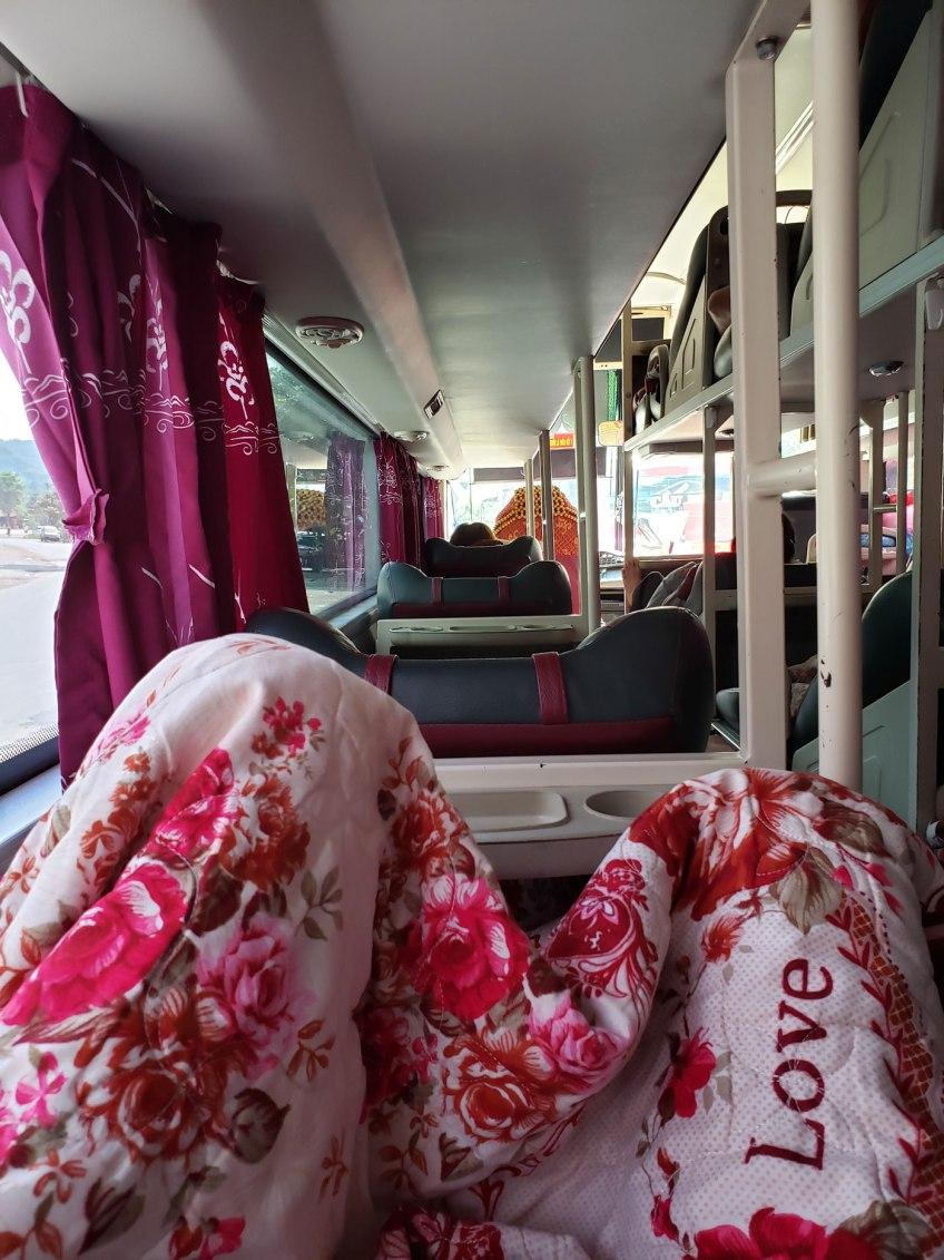 Typical sleeper bus in Vietnam