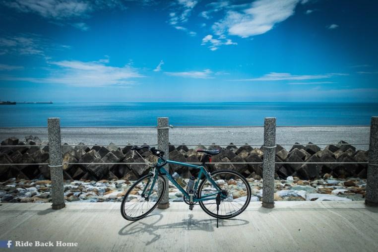 I loved cycling along the coast