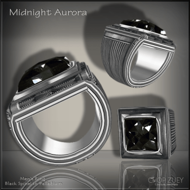Midnight Aurora Mens Ring