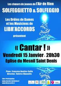 affiche concert 15 janvier
