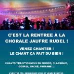 Affiche rentrée chorale Jaufré Rudel