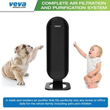 The Best Air Purifier For Smoke VEVA 8000 Elite True HEPA Activated Carbon Filters