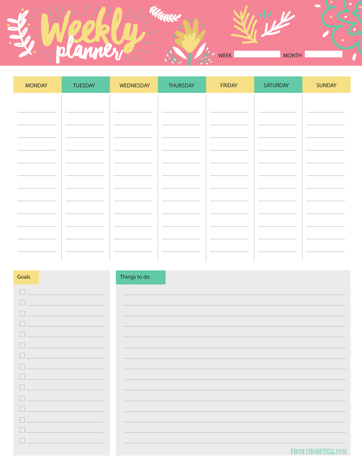 Weekly Planner Amp To Do List Free Download