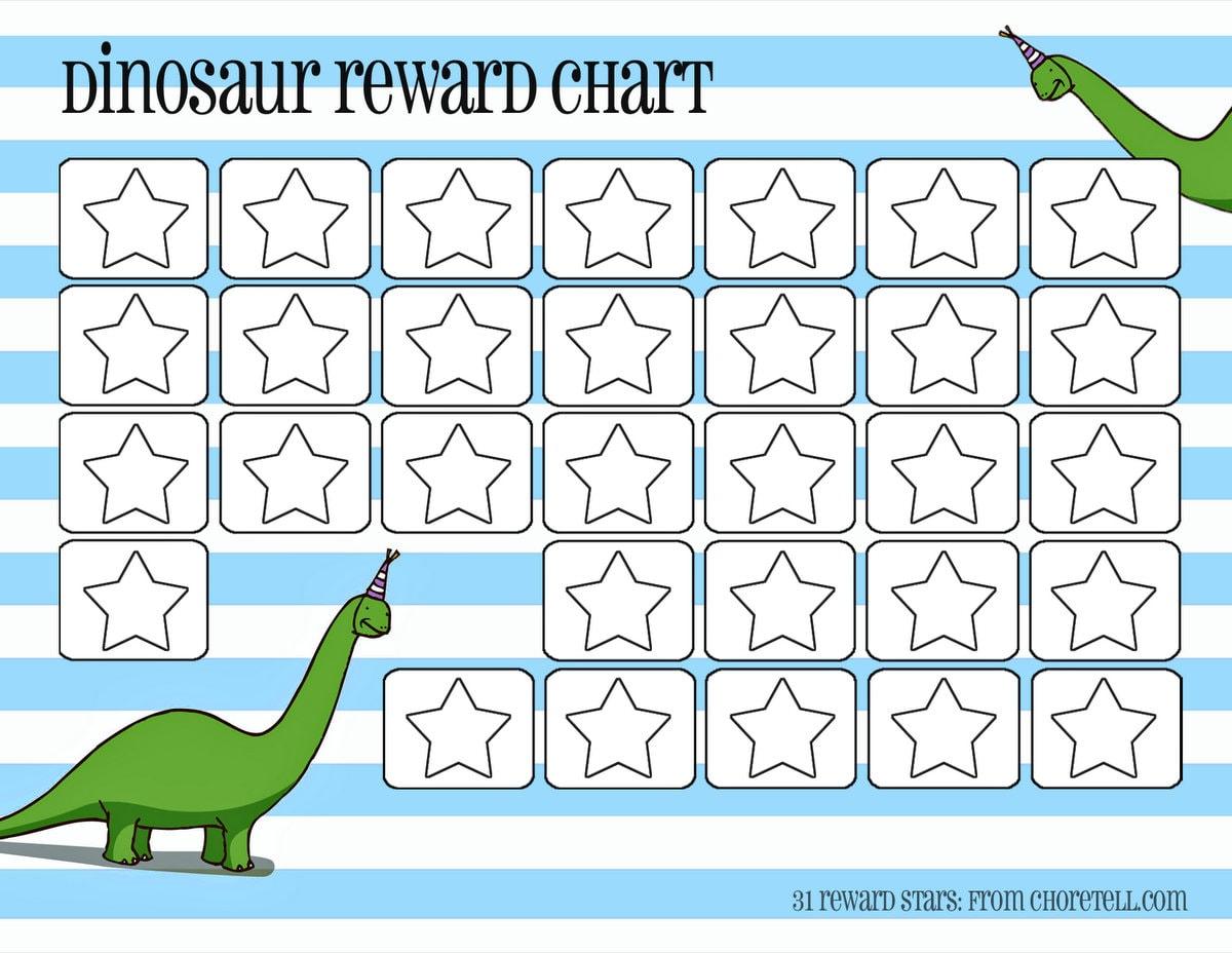 Dinosaur Reward Charts Pink Amp Blue