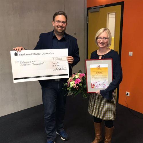 """Der erste Platz des Innovationspreises ging dieses Jahr an Sarah Szarek und ihren Kinder- und Jugendchor, die """"Poppsternla"""""""