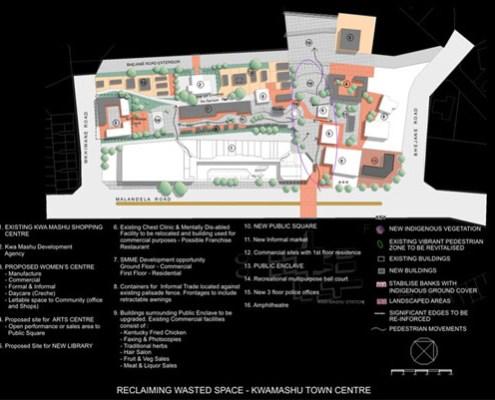 KwaMashu Town Centre. Choromanski Architects