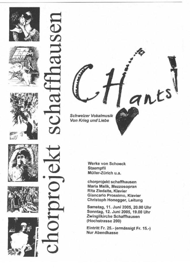 11./12.6.2005: Zwinglöikirche, Schaffhausen