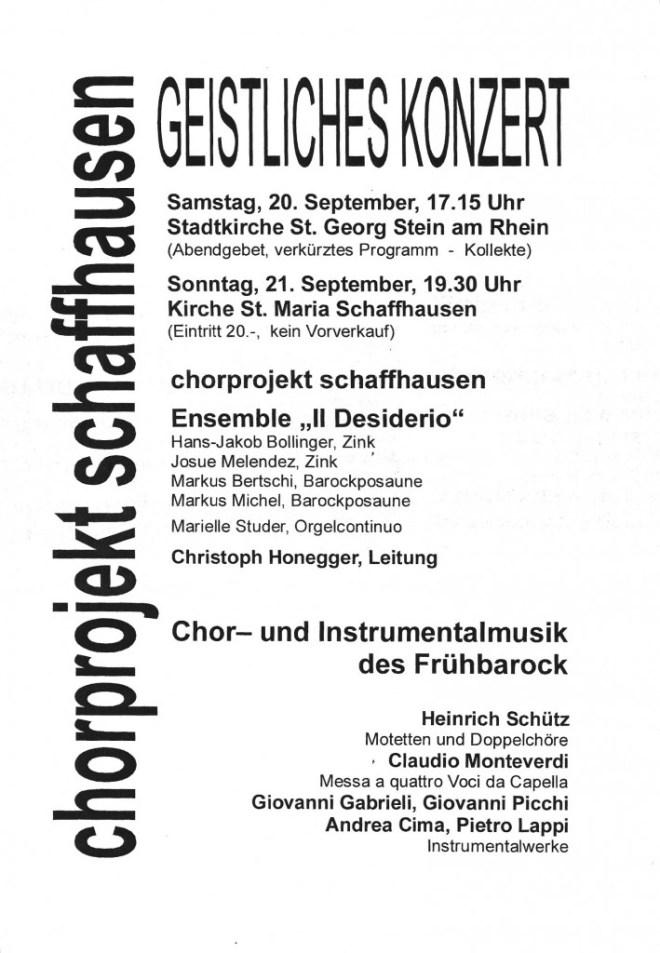20030920 Geistliches Konzert Flyer
