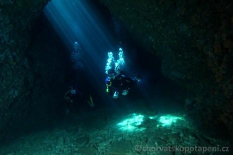 Potápění v Chorvatsku Malý Frašker jeskyňky