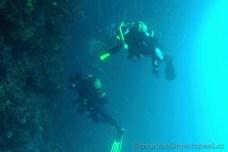 Pod převisem Banjola. potápění v Chorvatsku