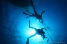Dekomprese na laně, potápění v Chorvatsku