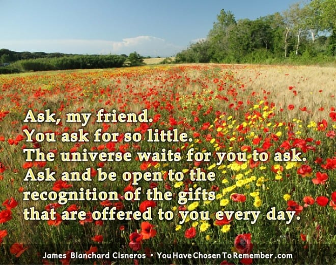 Inspirational Quotes about Prayer by James Blanchard Cisneros, author of spiritual self help books.
